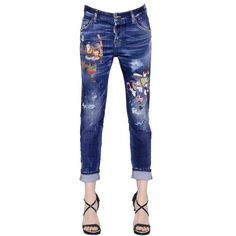 58.00$  Buy now - http://ali6d7.worldwells.pw/go.php?t=32760219791 - 2016 New Arrival European Style Japan Samurai Hot Selling Women Slim Jeans Ripped Painted Skinny Female Totem Jeans Amazing