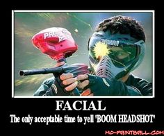 #FF brings us a nice facial courtesy of mo-paintball.com #paintballfacial #BOOMheadshot