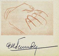 Borges todo el año: Nicolás Cócaro: Las manos de Jorge Luis Borges-Ilustraciones de Elbio Fernández