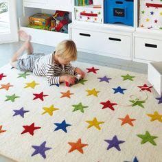 Rainbow Star Rug - for Jacob's room