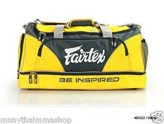 FAIRTEX NEW GYM BAG YELLOW COLOR Made from premium grade of waterproof nylon