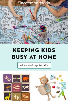 Worried about keeping little ones busy over the next few weeks? We hear you, and here's a few of our team's favorite games, crafts and DIY projects. Unique Gifts For Kids, Diy For Kids, Crafts For Kids, Home Activities, Toddler Activities, Easter Arts And Crafts, Modern Toys, Kid Experiments, Special Needs Kids
