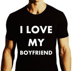 I Love My BOYFRIEND_LGBTQ Love T-shirt by ALLGayTees on Etsy