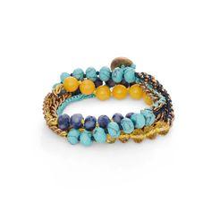 Bead + Chain Multi-Wrap Bracelet - Shop now in my boutique www.chloeandisabel.com/boutique/lizstorey #chloeandisabel #jewelry