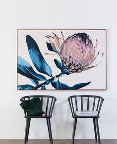 Canvas Art Prints, Painting Prints, Canvas Wall Art, Floral Paintings, Painting Gallery, Gallery Wall, Botanical Wall Art, Floral Wall Art, Protea Art