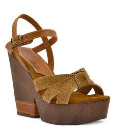 Love this Tan Wilder Leather Sandal on #zulily! #zulilyfinds