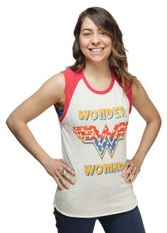Wonder Woman Retro Ladies' Raglan Tank