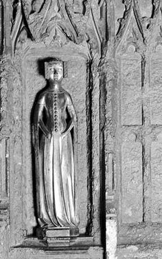 Princess Joan of England (1335 - 1348). Daughter of King Edward III and Queen Philippa. She was on her way to marry Peter of Castile when she died of the Plague.