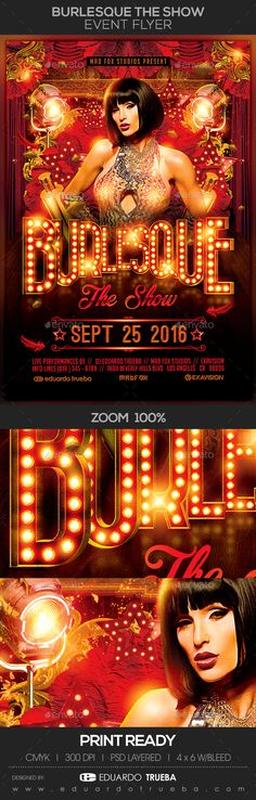 Tv Show Night Flyer Template  Clubs  Parties Events  Flyer