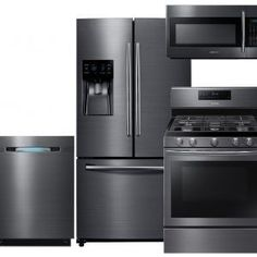 4 Piece Kitchen Appliance Package Stainless Steel