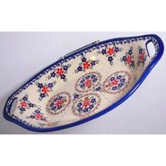 Classic Boleslawiec Pottery Handmade Ceramic Serving Dish Platter