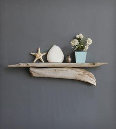 Large+Driftwood+Shelf+by+Oceanswept+on+Scoutmob+Shoppe A great idea!