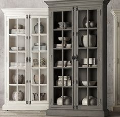Restoration Hardware...French Casement Double-Door Cabinet In Distressed Grey