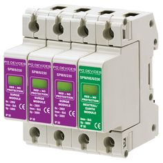 A3SPM/6/230N - 6kA Three phase with Neutral/Earth (w/o Remote Connector) - Type 2 Test Class II - This modular #surgeprotection #device provides #protection of equipment connected to incoming low voltage AC power supplies against the damaging effects of transient over voltages caused by local #lightning strikes, or the switching of electrical inductive or capacitive loads.