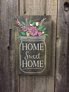 HOME SWEET HOME- MASON JAR