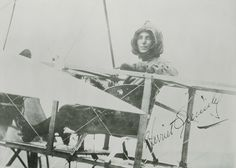 Harriet Quimby was the first American woman to earn a pilot's license and the first woman to fly solo across the English Channel. (Smithsonian National Air and Space Museum: Women in Aviaition and Space History)
