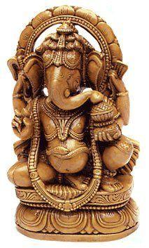 """Amazon.com: Ma's India Hindu Statue Ganesh - 6 1/2"""" (Clay): Home & Kitchen"""