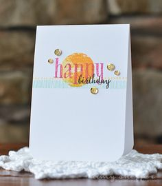 Happy Birthday Card by Amy Sheffer for Papertrey Ink (August 2015)