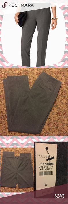 NWT Talbots Side Zip Pants NWT Talbots Side Zip Pants. Size 6. Gray. Excellent work pants. Great addition for a capsule wardrobe. Cover photo for reference only. Bundle and save! I accept reasonable offers. From a smoke free , pet friendly    home . Talbots Pants