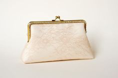 Blush Chantilly Bridal Clutch / Bridesmaid Clutch Purse /