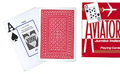 Aviator Playing Cards - Jumbo Index (Red Backed)
