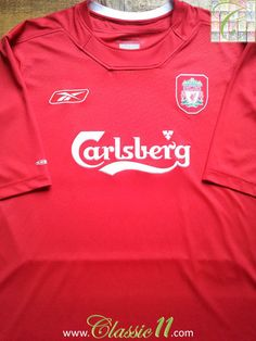 0e87d176ece Relive Liverpool s 2004 2005 season with this vintage Reebok home football  shirt. Liverpool Home