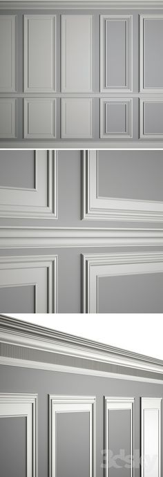 models: Decorative plaster - Moldings on the walls paneele Ceiling Design, Wall Design, House Design, Design Hotel, Wall Molding, Moulding, Wainscoting Wall, Decorative Plaster, Interior Styling
