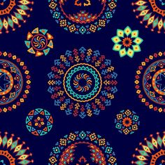 More than a million free vectors, PSD, photos and free icons. Exclusive freebies and all graphic resources that you need for your projects Native American Patterns, African American Art, African Art, Textile Pattern Design, Textile Patterns, Pattern Art, Paper Wallpaper, Wallpaper Backgrounds, Spiritual Paintings