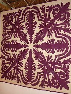 Hawaiian Quilt Patterns, Hawaiian Pattern, Hawaiian Quilts, Applique Stitches, Applique Quilts, Quilted Throw Blanket, 3d Quilts, Quilt Festival, Custom Quilts
