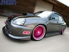 your girlfriends 2004 subaru wrx sti pinked
