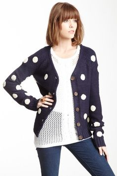 Pink Owl Dotted Knit Cardigan on HauteLook