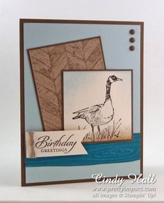 Stamp Sets:  Wetlands and Truly Grateful;  Paper:  Soft Suede, Soft Sky, Crumb Cake, Island Indigo and Very Vanilla;  Ink:  Soft Suede, Earl...