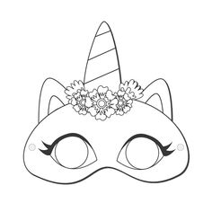 Cute Disney Wallpaper, Cute Cartoon Wallpapers, Animal Mask Templates, Frozen Pictures, Easter Colouring, Unicorn Mask, Carnival Masks, Idee Diy, Printed Pages