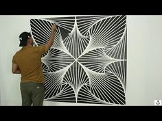 Teaching the latest spiral decor with the lowest cost and the simplest tools Living Room Partition Design, Room Partition Designs, Al Masjid An Nabawi, House Elevation, Op Art, Illusions, Art Drawings, Graffiti, Tapestry