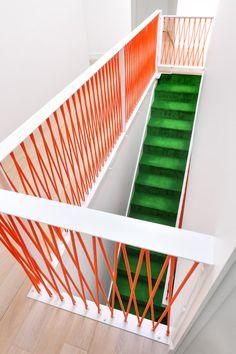 Nice railings in Podkowa House by Jakub Szczęsny