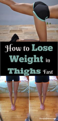 Have you tried thigh fat exercises and diet to get slim thighs and no results? Good news: Find out here how to lose weight in thighs in less than a week. Lose Thigh Fat, Lose Fat, Lose Belly Fat, Lower Belly, Start Losing Weight, Weight Gain, How To Lose Weight Fast, Losing Weight In Thighs, Loose Weight In Thighs