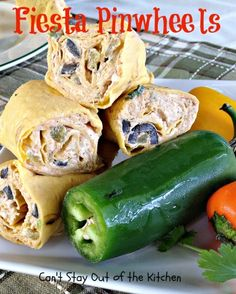 Fiesta Pinwheels - amazing #Tex-Mex #appetizer with a lot of heat from ...