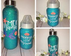 Vaso a juego Queen & Princess - Baby Shower House Diy Tumblers, Personalized Tumblers, Custom Tumblers, Glitter Tumblers, Kids Tumbler, Tumbler Cups, Coffee Tumbler, Glitter Wine, Glitter Cups