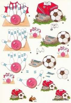 sport - Page 6 Image Stitching, Christmas Sheets, Bowling, Decoupage Printables, 3d Sheets, Birthday Tags, Boy Cards, 3d Paper Crafts, Picasa Web Albums