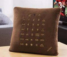 Pillow Remote Control - A Remote You'll Never Lose, $39