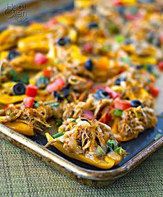 Chicken Nachos on Bell Peppers