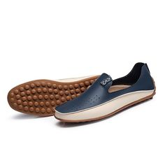 ad2f8985b43 Large Size Men Color Blocking Slip Ons Flat Soft Casual Driving Loafers -  NewChic