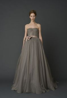 Love this style for a bridesmaid, in white it would be a lovely wedding dress