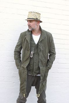 Men's Military Style Army Green Weatherproof Coat From Reclaimed Materials US Army tent. $330.00, via Etsy.