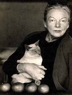 Lovely portrait photo of M F K Fisher --- food writer extraordinaire (1908-1992)