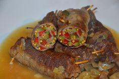 mundo de caty: Involtini di Vitellone con cetrioli agrodolci. peperoni agrodolci e salsa Kren Zuccato e spezie Tec-Al Srl, Zrazy Cielece #involtini #vitello #vitellone @zuccato  @tecalsrl #kren #peperoni #dijon #cetrioli