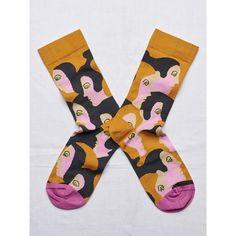 Lady Sock (€17) ❤ liked on Polyvore featuring intimates, hosiery, socks, mid calf socks and calf length socks
