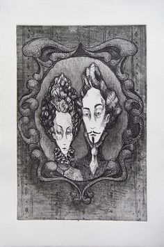 """Holier-Than-Thou Etching on BFK, edition of 11 7.5""""x11.25"""" 2010"""