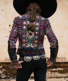 Brands :: Double D Ranch :: DOUBLE D RANCH SPRING 2014 PACHERO CANYON BIKER JACKET - Native American Jewelry Ladies Western Wear Double D Ra...