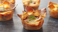 Layers of meat, cheese and pasta baked in little lasagna cupcakes.